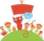 Cartão ou ivitation do bebê do cumprimento Imagens de Stock Royalty Free