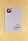 Cartão ou menu do convite para o casamento Imagens de Stock Royalty Free