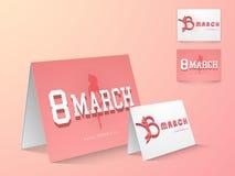 Cartão para a celebração do dia das mulheres internacionais Imagens de Stock
