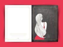 Cartão para a celebração do dia das mulheres internacionais Fotografia de Stock