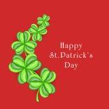 Cartão para a celebração do dia de St Patrick feliz Imagens de Stock Royalty Free