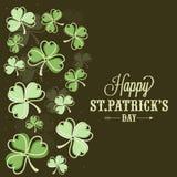 Cartão para a celebração do dia de St Patrick feliz Imagens de Stock