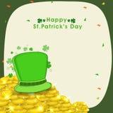 Cartão para a celebração do dia de St Patrick feliz Fotografia de Stock