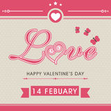 Cartão para a celebração do dia de Valentim Foto de Stock Royalty Free