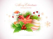 Cartão para a celebração do Natal Imagens de Stock