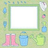 Cartão para gravar a jardinagem. Imagem de Stock