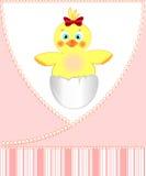 Cartão para a menina recém-nascida ilustração do vetor