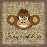 Cartão para o aniversário com um macaco em EPS 10 dentro Imagens de Stock
