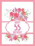 Cartão para o aniversário do aniversário Fotografia de Stock