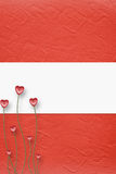 Cartão para o convite com corações ilustração do vetor