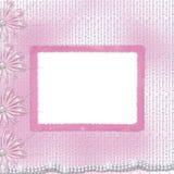 Cartão para o convite com curva e fitas Imagens de Stock Royalty Free