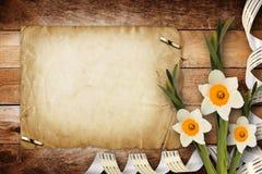 Cartão para o convite com o ramalhete do narciso das flores Imagem de Stock