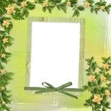 Cartão para o convite com orquídeas e galhos Imagem de Stock Royalty Free
