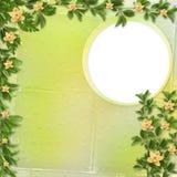 Cartão para o convite com orquídeas e galhos Imagens de Stock