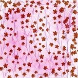 Cartão para o convite com orquídeas e galhos Fotografia de Stock Royalty Free