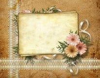 Cartão para o cumprimento ou o convite Foto de Stock
