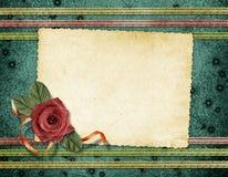 Cartão para o cumprimento ou o convite Fotografia de Stock