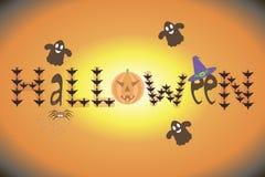 Cartão para o Dia das Bruxas Fotos de Stock