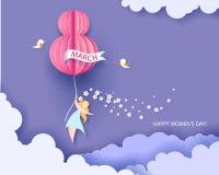 Cartão para o dia das mulheres do 8 de março ilustração royalty free