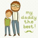 Cartão para o dia de pai Foto de Stock