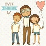 Cartão para o dia de pai Fotos de Stock Royalty Free