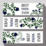 Cartão para o dia de pai ou as felicitações do pai para a Fotografia de Stock