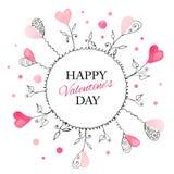 Cartão para o dia de Valentim ilustração royalty free