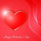 Cartão para o dia de Valentim Fotos de Stock