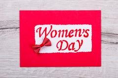 Cartão para o dia do ` s das mulheres Fotografia de Stock Royalty Free