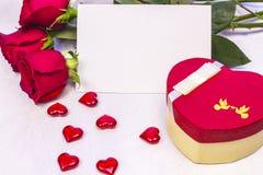 Cartão para o dia do `s do Valentim Foto de Stock