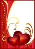 Cartão para o dia do Valentim ilustração stock