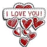 Cartão para o dia dos Valentim Foto de Stock