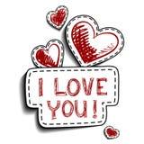 Cartão para o dia dos Valentim Fotos de Stock
