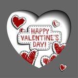 Cartão para o dia dos Valentim Fotos de Stock Royalty Free