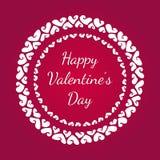 Cartão para o dia dos Valentim Fotografia de Stock Royalty Free