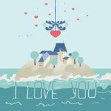 Cartão para o dia dos Valentim ilustração stock