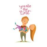 Cartão para o dia feliz do ` s do Valentim Fotografia de Stock Royalty Free
