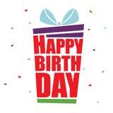 Cartão para o feliz aniversario Foto de Stock
