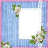 Cartão para o feriado com flores Imagens de Stock Royalty Free