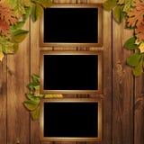 Cartão para o feriado com folhas de outono Imagem de Stock Royalty Free