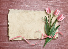 Cartão para o feriado no fundo abstrato Imagens de Stock