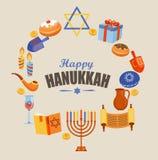 Cartão para o Hanukkah feliz Fotos de Stock