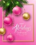 Cartão para o inverno boas festas fotos de stock royalty free