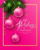 Cartão para o inverno boas festas foto de stock royalty free
