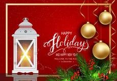 Cartão para o inverno boas festas fotografia de stock