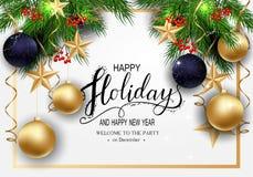 Cartão para o inverno boas festas imagem de stock