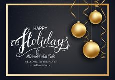 Cartão para o inverno boas festas fotos de stock