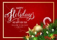 Cartão para o inverno boas festas imagens de stock royalty free