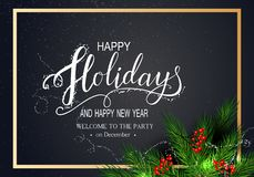 Cartão para o inverno boas festas fotografia de stock royalty free