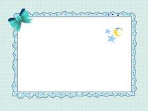 Cartão para o macho recém-nascido ilustração do vetor